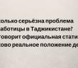 Рынок труда, как зеркало таджикской экономики.