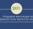 Трудовая миграция из Таджикистана выросла на 20%.