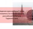 Санкции против России сказались на курсе рубля в Таджикистане.