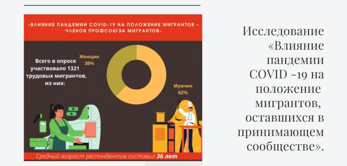 Исследование «Влияние пандемии COVID -19 на положение мигрантов, оставшихся в принимающем сообществе».